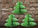 Green Pine Tree Decorations (Pack of 3)