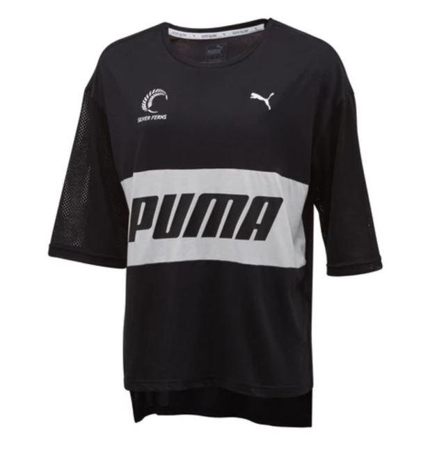 Puma: Silver Ferns Style T-Shirt: Black/White (Medium)