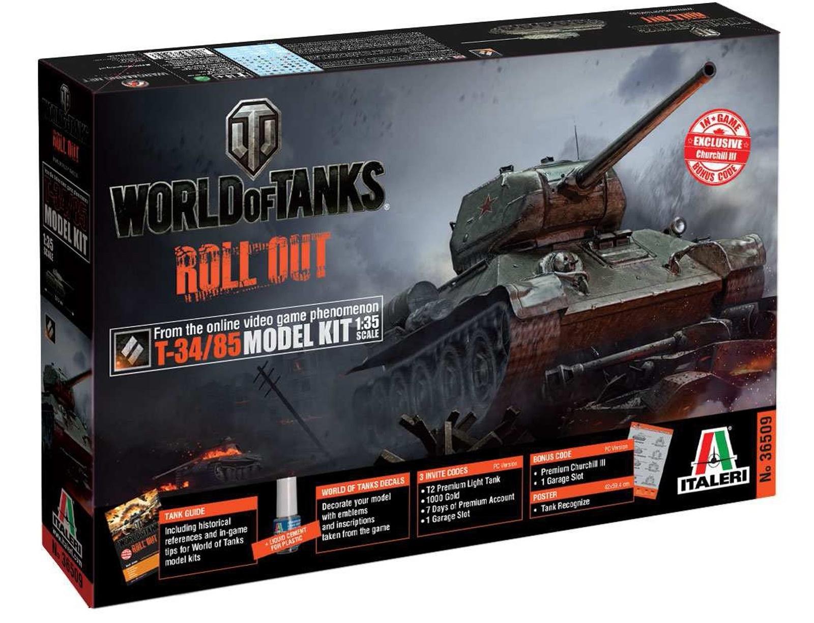 Italeri: 1/35 World Of Tanks - T-34/85 (EU WOT)