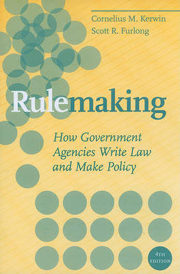 Rulemaking by Cornelius M. Kerwin image