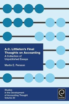 A. C. Littleton's Final Thoughts on Accounting