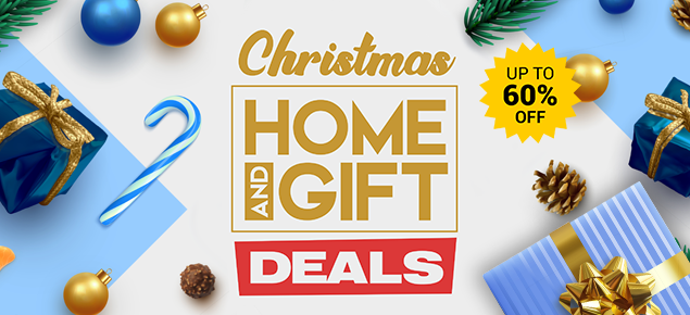 Christmas Home & Gift Deals - up to 60% off!