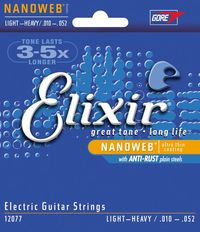 Elixir Light Heavy 10-52 NanoWeb Coating - Electric Guitar Strings