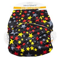 Snazzipants All In One Reusable Nappy - Black Stars