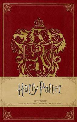 Harry Potter: Gryffindor Ruled Pocket Journal by Insight Editions