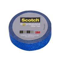 Scotch Expressions Glitter Washi Tape - Dark Blue (15mm x 5m)