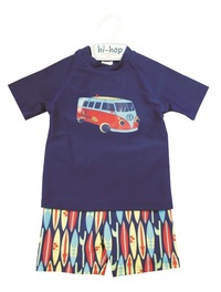 Hi-Hop Surfs Up Boy's Rash Suit (2 Years)