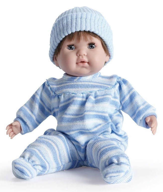Nonis: Soft Body Boy - Blue with Brown Hair (39cm) image