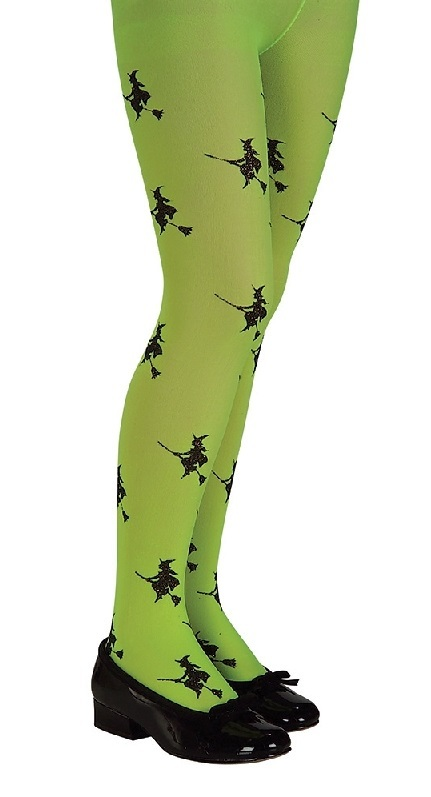 Rubie's: Glitter Witch Tights - Green (Small) image