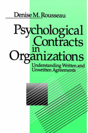 Psychological Contracts in Organizations by Denise M. Rousseau image