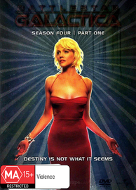 Battlestar Galactica - Season 4: Part 1 (4 Disc Slimline Set) on DVD