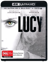 Lucy on Blu-ray, UHD Blu-ray, UV