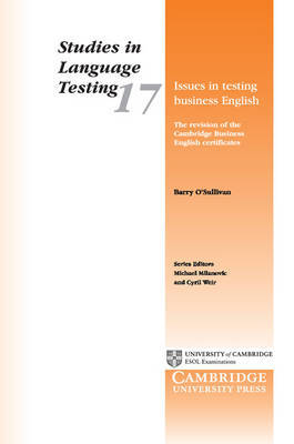 Issues in Testing Business English by Barry O'Sullivan image