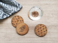 Cardtorial Shells Coasters