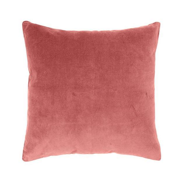 Bambury Clay Velvet Feather Filled Cushion