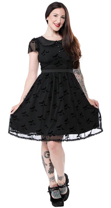 Sourpuss: Bat Flutter Shift Dress (Medium)