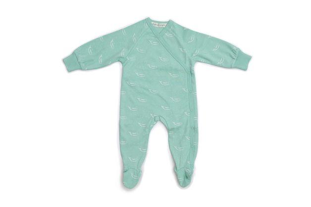 Organic Nights: Kimono Baby Sleepsuit with Feet - Sage Green (12-24mths)