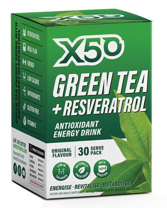 Green Tea X50 + Resveratrol - Original (30 sachets) image