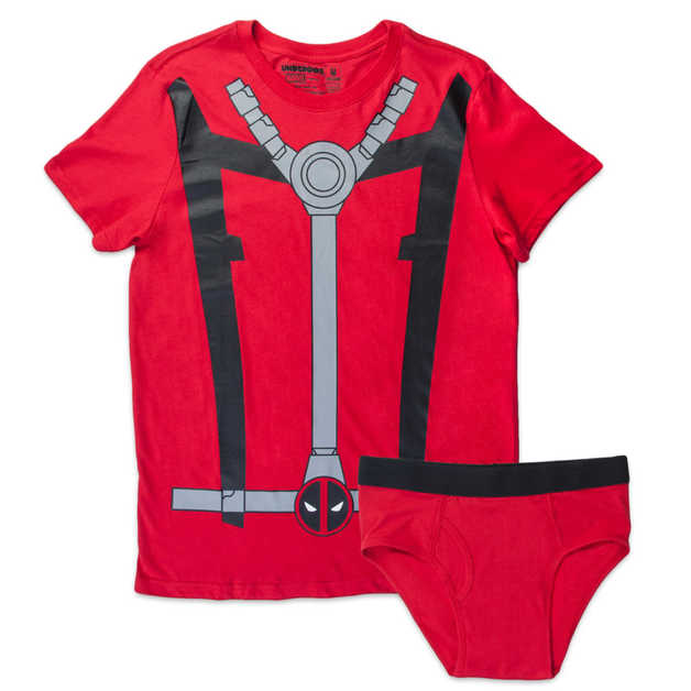 Marvel Deadpool Mens Underoo Set - Small