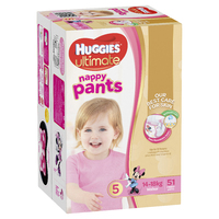 Huggies Ultimate Nappy Pants: Jumbo Pack - Walker Girl 14-18kg (51)