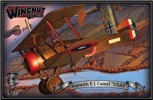 "Wingnut Wings 1/32 Sopwith F.1 Camel ""USAS"" Model Kit"