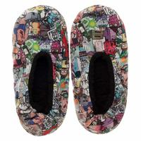 Rick and Morty - Women's Cozeez Slippers - White (L/XL)