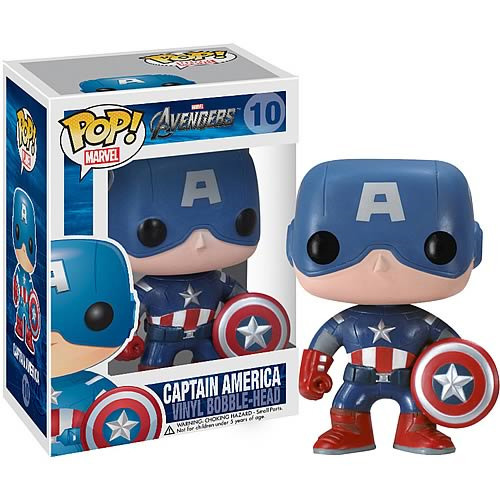 Avengers Movie - Captain America Pop! 9.5cm Vinyl Bobble Head image