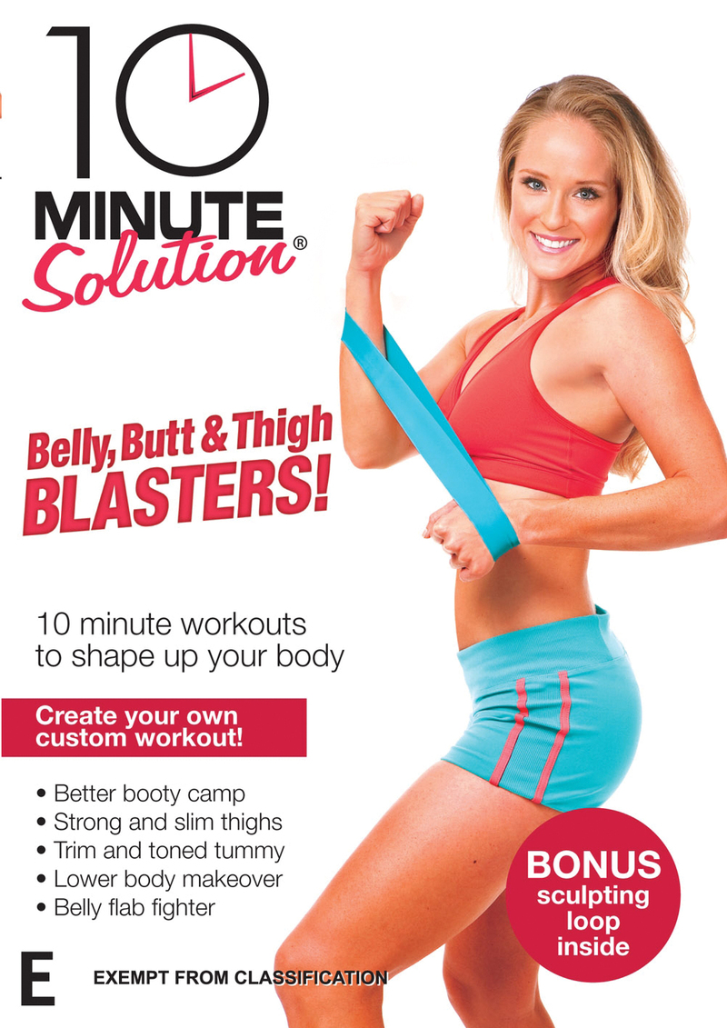 10 Minute Solution: Belly, Butt & Thigh Blaster with Resistance Loop on DVD image