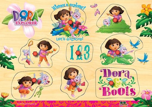 Dora Wooden Puzzle - Let's Explore