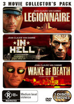 Legionnaire / In Hell / Wake Of Death - 3 Movie Collector's Pack (3 Disc Set) on DVD