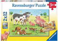Ravensburger - Animal's Children Puzzle (2x12pc)