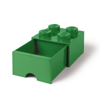 LEGO Storage Brick Drawer 4 (Dark Green)