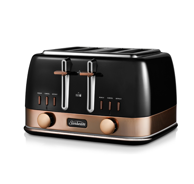 Sunbeam: New York Collection 4 Slice Toaster - Black Bronze