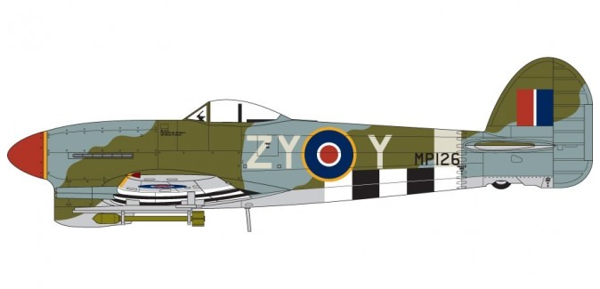 Airfix Hawker Typhoon 1B 1:72 model kit image