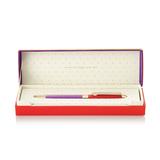 Kate Spade Ballpoint Pen (Red & Purple)