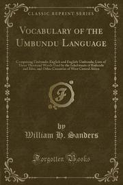 Vocabulary of the Umbundu Language by William H Sanders image