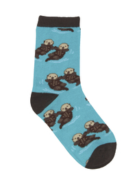 Kid's (7-10 Years) Significant Otter Crew Socks - Blue