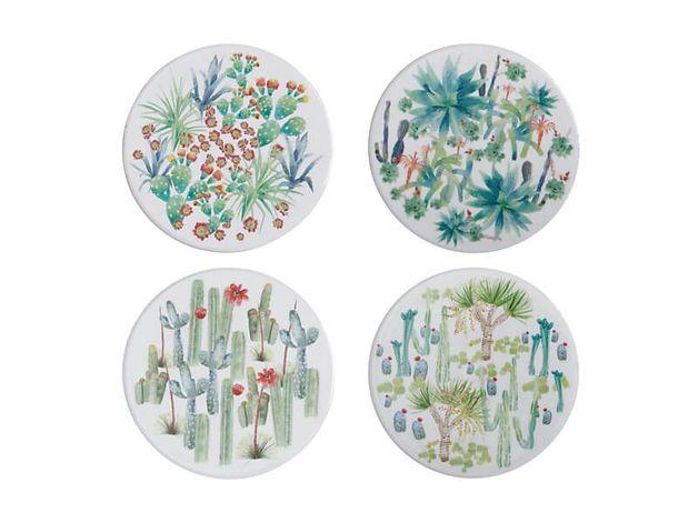 Maxwell & Williams: Royal Botanic Garden Arid Garden Ceramic Round Coaster (Set of 4)