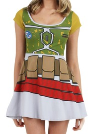 Star Wars Boba Fett Skater Dress (Large)