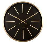Karlsson Wall Clock - Maxiemus (Gold/Black)