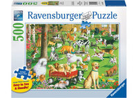 Ravensburger – At The Dog Park Lge Form Puzzle 500pc