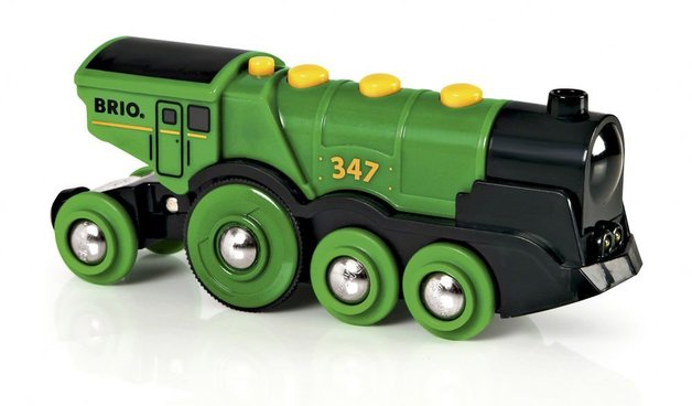 Brio: Big Green Locomotive - Action Train