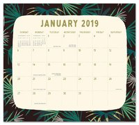 Justina Blakeney: Botanicals 2019 Magnetic Monthly Planner