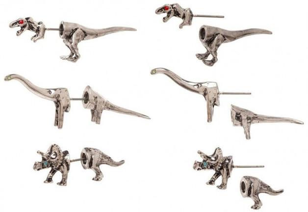 Jurassic Park 3D Dinosaur Earring Pack