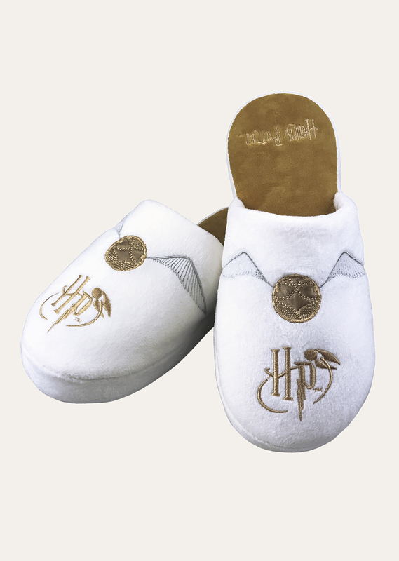 Harry Potter: Golden Snitch Mule Slippers - White Ladies Large (UK 5-7)