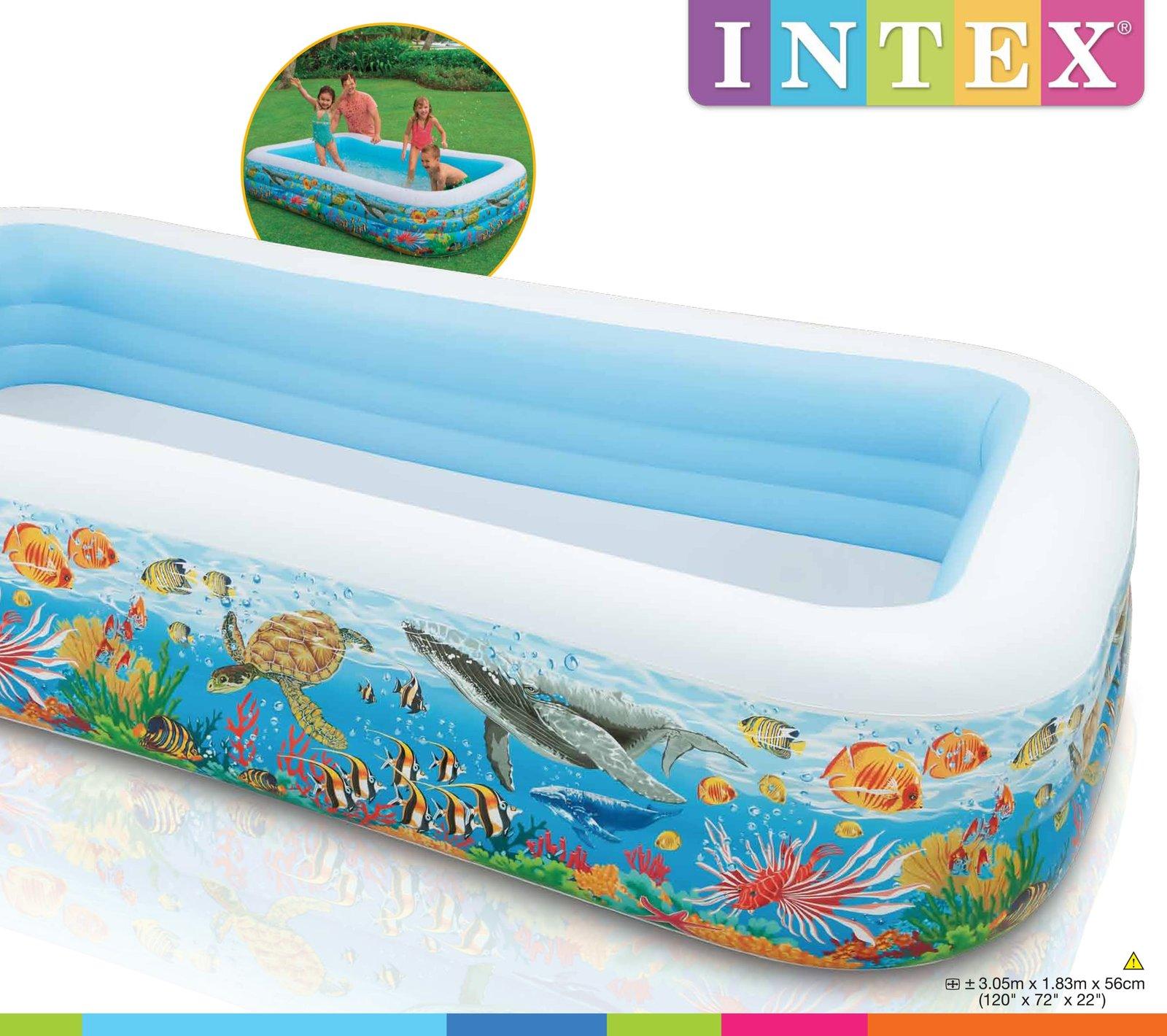 Intex Swim Center Tropical Reef Family Pool Toy At Mighty Ape Australia