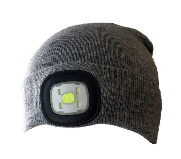 254e1d79 LED Beanie: High Power Waterproof Beanie (Light Grey) | at Mighty Ape NZ