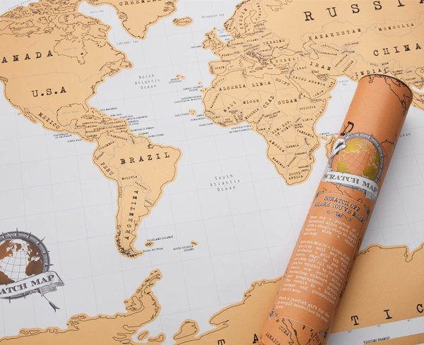 Scratch Off World Map At Mighty Ape NZ - Scratch off us state maps with pencil 25 pack