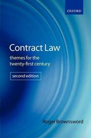 Contract Law by Roger Brownsword