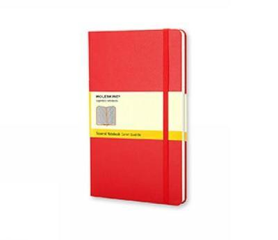 Moleskine Pocket Squared Notebook Red by Moleskine